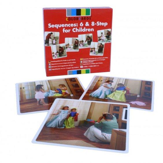 Kolekcia fotografii komplexne sekvencie pre deti