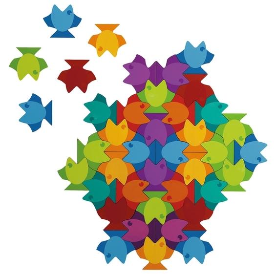 Mandala puzzle - Ryby