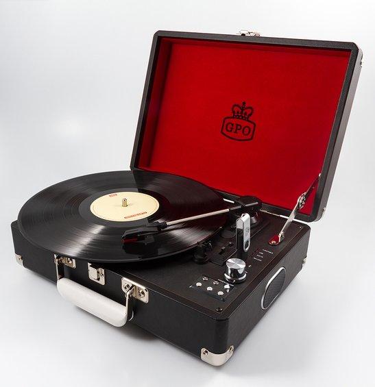 Reminiscencna pomocka gramofon cierny