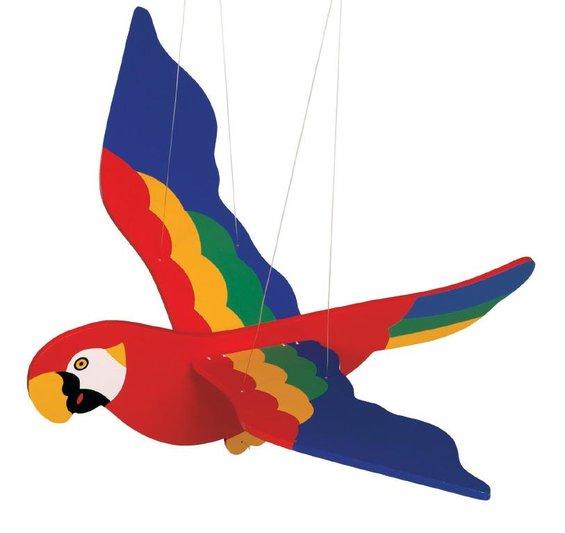 Zavesna dekoracia papagaj