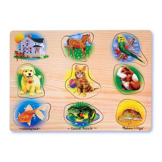 Zvukové puzzle - domáce zvieratá