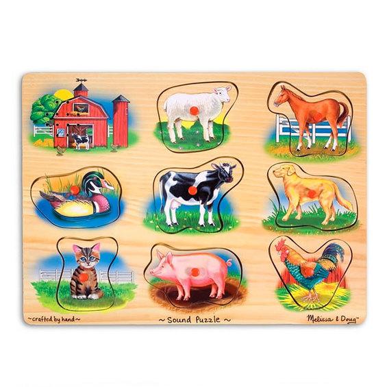 Zvukové puzzle - farma