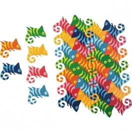 Mandala puzzle - Chameleóni