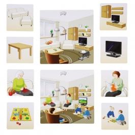 Obrázkové kartičky - Domov