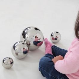 Zrkadlové guľôčky - Súprava 4 kusov
