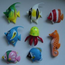 Rybičky pro bublinkový válec - sada osmi kusů