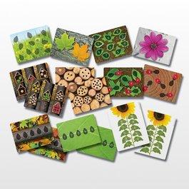 Číselné lienky s obrázkovými kartičkami