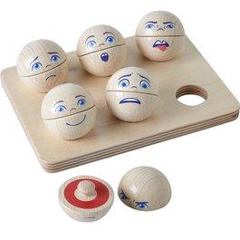 Dřevěné kuličky - Emoce