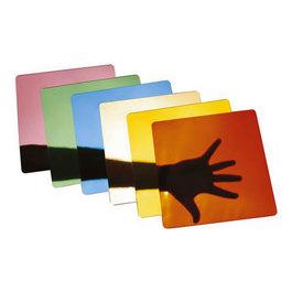 Farebné akrylové zrkadlá - Súprava 6 kusov