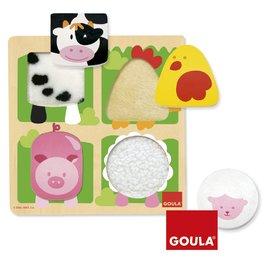 Hmatové puzzle - Zvířátka na farmě