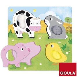 Hmatové puzzle - Zvieratká na lúke