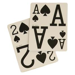 Hracie karty s veľkými symbolmi