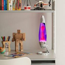 Lávová lampa Neo - stříbrná