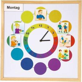 Magnetická tabule s hodinami