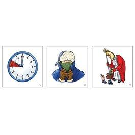 Obrázkové kartičky - Kalendář, čas a počasí