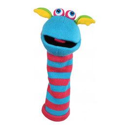 Ponožková maňuška - modrá