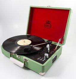 Reminiscenční pomůcka - Přenosný gramofon