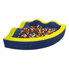Rohový guľôčkový bazén - Vlna