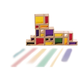 Stavebnica s farebnými sklíčkami