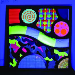 UV abstraktný dotykový panel