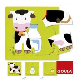 Vrstvové puzzle - Kráva