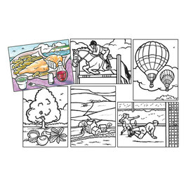 Vyfarbovacie kartičky pre seniorov - Súprava 4