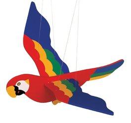 Závesná dekorácia - Papagáj